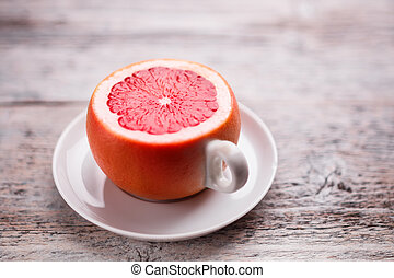 Cup from a grapefruit