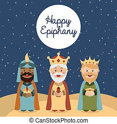 happy epiphany - happy ephipany over nigh sky background...