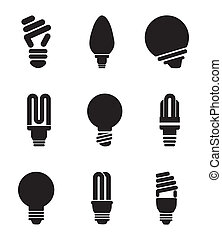 bulbs design over white  background vector illustration