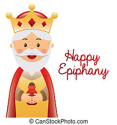 happy epiphany - happy ephipany over white background vector...