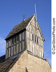 Bell tower, Warwickshire - English timber-framed church bell...