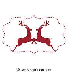 Vector illustration of deer