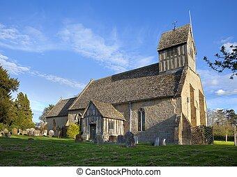 Warwickshire church - Long Marston Church, Warwickshire,...