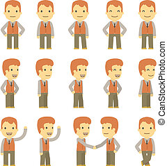 urban character set in different poses. simple flat design.