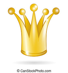 Gold princess crown isolated
