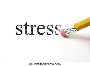 Erasing Stress - An eraser from a pencil is starting to...