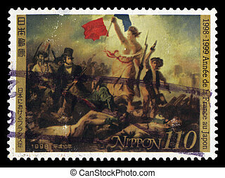 Eugene Delacroix, Liberty Leading the People - Japan - CIRCA...