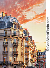 City, urban view on building in Paris.France. - City, urban...
