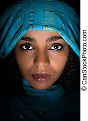 Ethiopian closeup - Attractive Ethiopian young woman wearing...