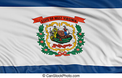3D West Virginia Flag - Rendering of flag of the US state of...