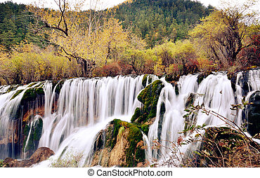 Shuzheng Waterfall in Jiuzhaigou,Sichuan China