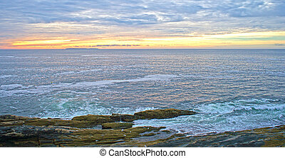 Sunrise at Pemaquid Point Maine - Sunrise with a mottled sky...