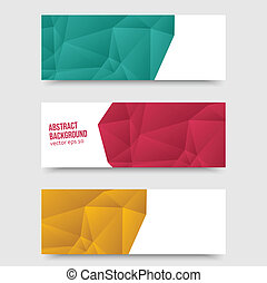 Vector abstract background. Origami Polygon - Vector...