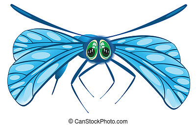 Vector illustration of the dragonfly - Insect dragonfly on...