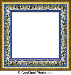 flower frame - a picture flower frame on a white
