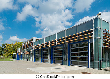 school building - exterior of a modern school building in...