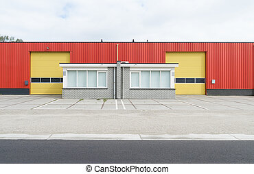 industrial warehouse - colorful industrial warehouse with...