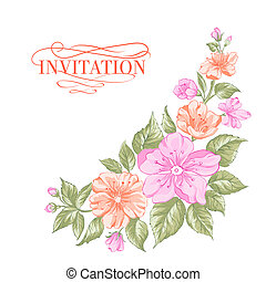 Sakura holiday invitation card Vector illustration