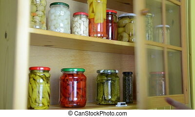 jar size cupboard - hand take from shelves in kitchen...