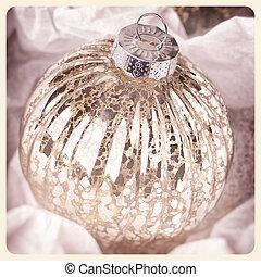 Antique Christmas bauble instant photo