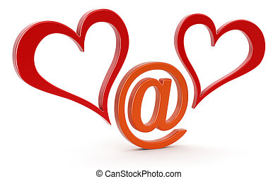 E-love sign   - E-love sign. Image with clipping path
