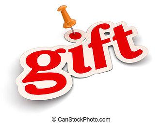 Push Pin and gift