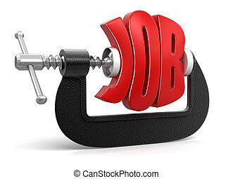 job in clamp  - job in clamp. Image with clipping path