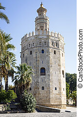 Magnificent Tower of gold in Seville