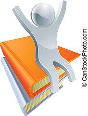 Silver book person concept