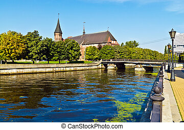 Cathedral on Kneiphof island and Fishing Village....