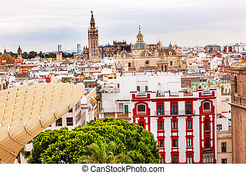 Giralda Spire Bell Tower Seville Cathedra, Cathedral of...