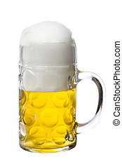 Glass of Beer - Glass of beer isolated on a white background