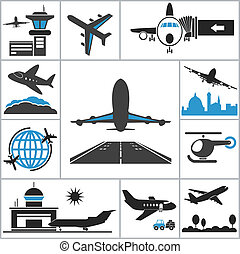 Airport icon. Vector set for you design
