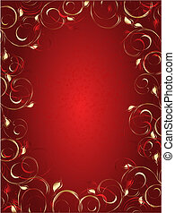 Abstract background with floral ornament - Vector abstract...