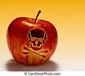 red poison apple background - fine image of red poison apple...