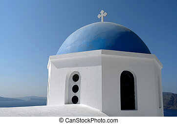 Dome of a church in Oia.
