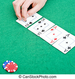 Poker flop - The flop during a poker game