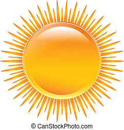 Sun glossy with vivid colors icon illustration vector