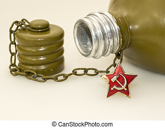 Military canteen and asterisk USSR