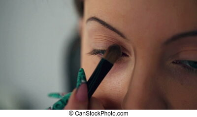 Eyebrow Makeup closeup