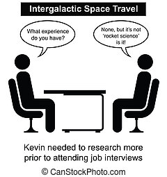 Space Travel - Kevin failed at yet another job interview...