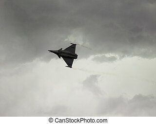 Dassalut Rafale is flying over our heads on the background...