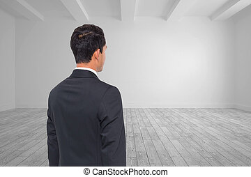 Composite image of bright white room