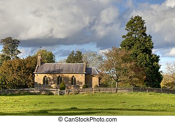 Cotswold chapel - The small Cotswold chapel at Aston subedge...