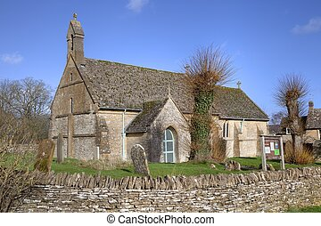 Cotswold chapel - The small Cotswold chapel at Condicote,...