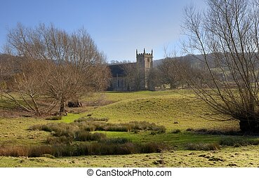 Cotswold church at Weston Subedge, Gloucestershire, England.