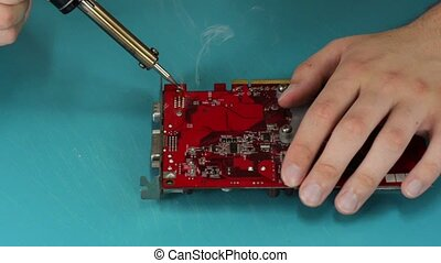 Video card soldering