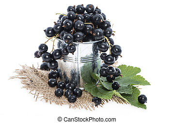 Black Currants on white - Black Currants isolated on white...