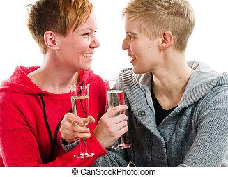 lesbienne, couple