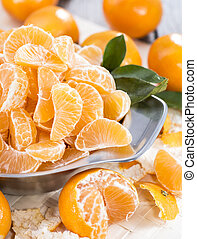 Fresh Tangerine Pieces - Fresh Tangerines in a bowl...